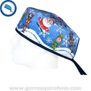 Gorro de quirófano Papa Noel Santa Claus Reno Duende Navidad - 849