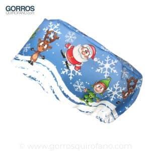 Gorros Quirofano Pelo Largo Navidad Papa Noel Santa Claus - 383