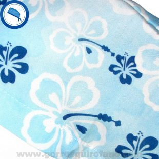 Gorros Cirugia Hawai Flores Azules Acuarela - 385