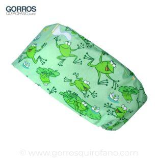 Gorros Quirofano Divertidos Ranas Verdes Saltando - 387