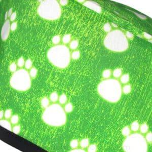 Gorros Quirofano Veterinarios Huellas Neon Verde - 851