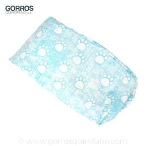 Gorros Quirofano Huellas Azules Jaspeadas - 380