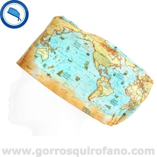 Gorros Quirofano I Love to Travel Mapa Mundi - 381