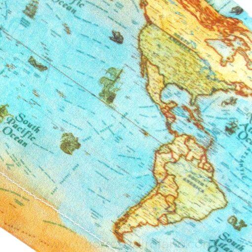 Gorros Quirofano Mujer I Love to Travel Mapa Mundi - 381b