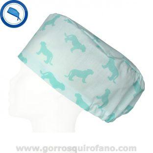 Gorros Quirofano 388 Leoncitos Verde Menta