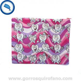 Bolsa de dentistas Muelas Rosa Morado - BOLSA009