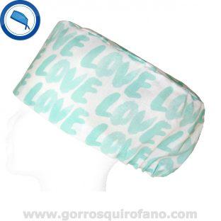 Gorros Quirofano Love Love Verde Menta 395