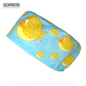 Gorros de quirófano azules Pez globo - 398