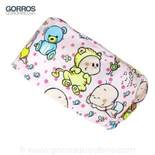 Gorros de quirofano rosas con bebés - 397