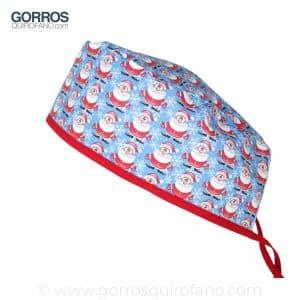 Gorros Quirofano Hombre Papa Noel Mini Azul - 872