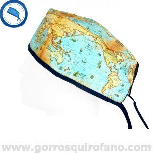 Gorros Quirofano I Love to Travel Hombre Mapa Mundi - 846