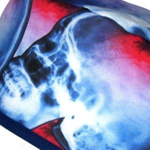 Gorros de quirófano Cráneos dañados azul y rojo ampliación - 870