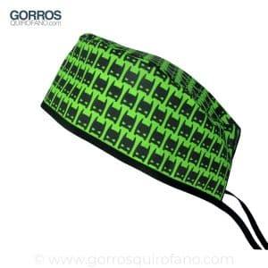 Gorros quirofano Máscara Batman fondo verde - 873