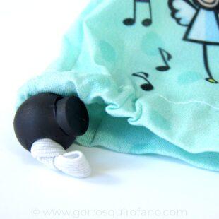 Ajuste goma Gorros Quirofano Verde Menta Bebé durmiendo - 411e