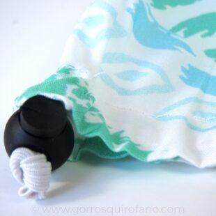 Ajuste goma elástica Gorros Quirófano Étnicos Blanco Verde Celeste - 412e