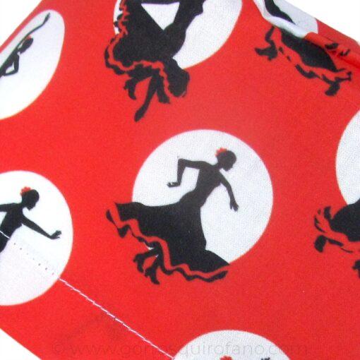 Ampliación Gorros Quirofano Rojos Lunares Flamenco - 419d