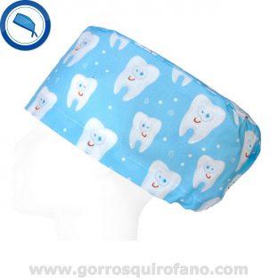 Gorros Quirofano Azul Celeste Muelas Divertidas - 410