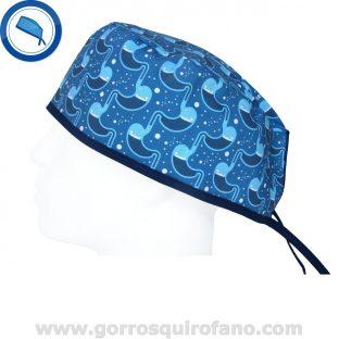 Gorros Quirofano Azules Estómagos unidos - 879
