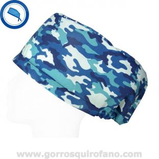 Gorros Quirofano Exclusivos Azules Camuflaje - 416