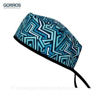 Gorros Quirofano Formas Abstractas de Colores - 880