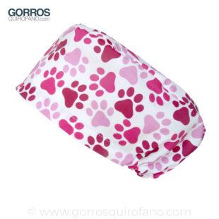 Gorros Quirofano Huellas Rosas Fucsias - 407