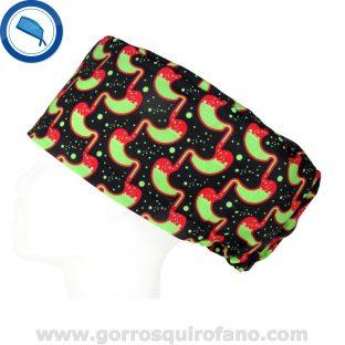 Gorros Quirofano Negros Estomago Bilis - 406
