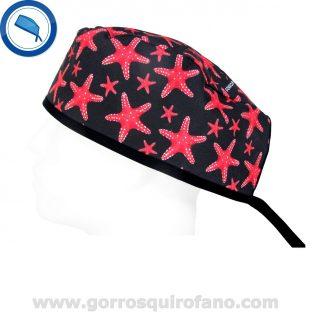 Gorros Quirofano Negros Estrella Mar Coral - 886
