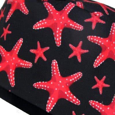 Gorros Quirofano Negros Estrella Mar Coral ampliación - 886a