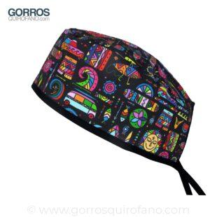 Gorros Quirofano Surf Colorido - 882