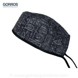 Gorros Quirofano Surf Negro y Blanco Pizarra - 876