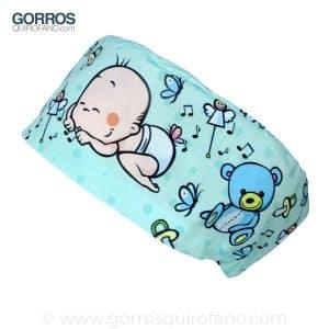 Gorros Quirofano Verde Menta Bebé durmiendo - 411