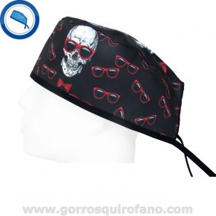 Gorros Quriofano Calavera Gafas Rojas - 883