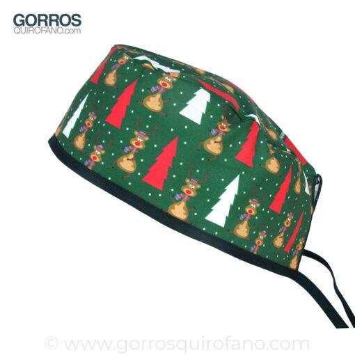 Gorros Quirofano Renos Arbol Nieve Verde - 891