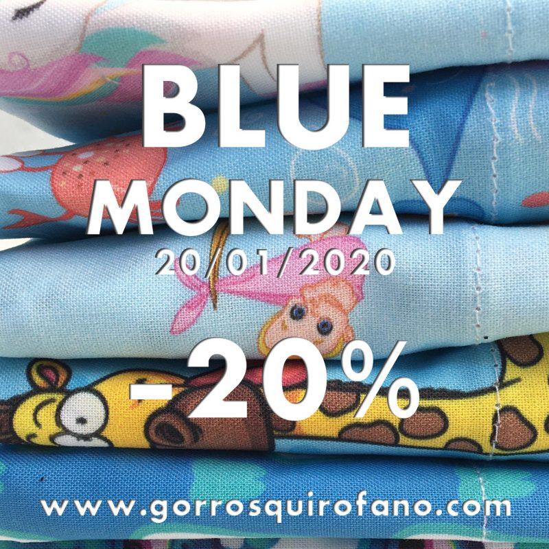 Blue Monday Descuento 20% en gorros quirofano