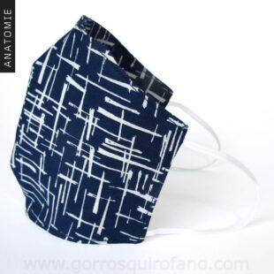 Mascarillas Tela Azules Líneas - MASC009