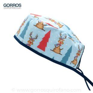 Gorros Quirofano Azules Renos Arboles Navidad - 896