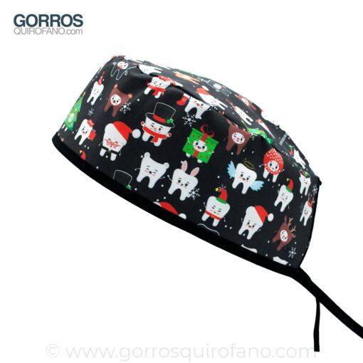Gorros Quirofano Negros Muelas Navidad - 894