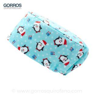 Gorros Quirofano Pinguinos Navidad Azul - 436