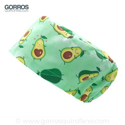 Gorros Quirofano Aguacates Divertidos Verde Acuarela - 441